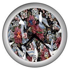 Quilt Wall Clocks (silver)  by Nexatart