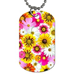 Flowers Blossom Bloom Nature Plant Dog Tag (two Sides) by Nexatart