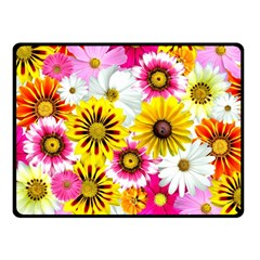 Flowers Blossom Bloom Nature Plant Fleece Blanket (small) by Nexatart