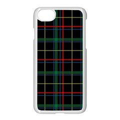 Plaid Tartan Checks Pattern Apple Iphone 7 Seamless Case (white) by Nexatart
