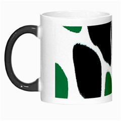 Green Black Digital Pattern Art Morph Mugs by Nexatart