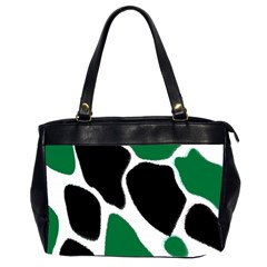 Green Black Digital Pattern Art Office Handbags (2 Sides)  by Nexatart