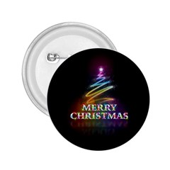 Merry Christmas Abstract 2 25  Buttons