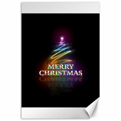 Merry Christmas Abstract Canvas 24  X 36  by Nexatart