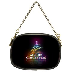 Merry Christmas Abstract Chain Purses (two Sides)  by Nexatart