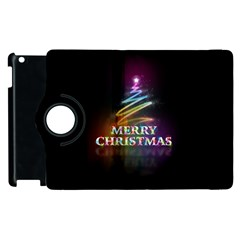 Merry Christmas Abstract Apple Ipad 2 Flip 360 Case by Nexatart