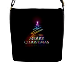 Merry Christmas Abstract Flap Messenger Bag (l)  by Nexatart