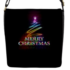 Merry Christmas Abstract Flap Messenger Bag (s) by Nexatart