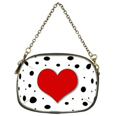 Red Heart Chain Purses (one Side)  by Valentinaart