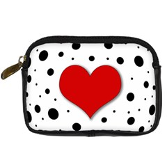 Red Heart Digital Camera Cases by Valentinaart