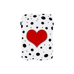 Red Heart Apple Ipad Mini Protective Soft Cases by Valentinaart
