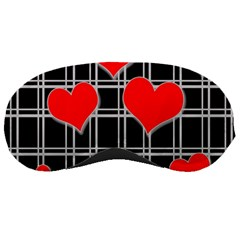 Red Hearts Pattern Sleeping Masks