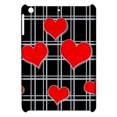 Red Hearts Pattern Apple Ipad Mini Hardshell Case by Valentinaart