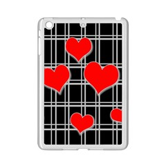 Red Hearts Pattern Ipad Mini 2 Enamel Coated Cases by Valentinaart