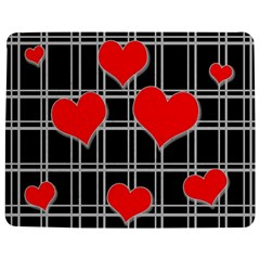 Red Hearts Pattern Jigsaw Puzzle Photo Stand (rectangular) by Valentinaart