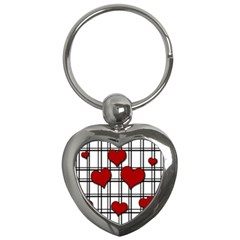 Hearts Pattern Key Chains (heart)  by Valentinaart