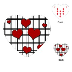 Hearts Pattern Playing Cards (heart)  by Valentinaart