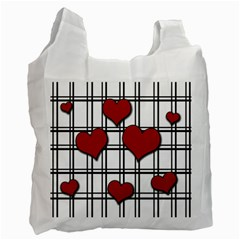 Hearts Pattern Recycle Bag (one Side) by Valentinaart