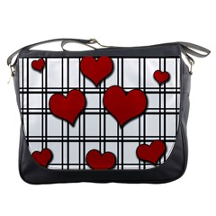 Hearts Pattern Messenger Bags