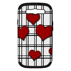 Hearts Pattern Samsung Galaxy S Iii Hardshell Case (pc+silicone) by Valentinaart