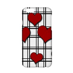 Hearts Pattern Apple Iphone 6/6s Hardshell Case by Valentinaart