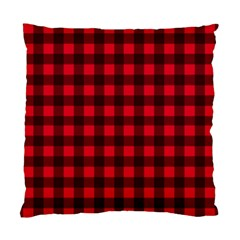 Red And Black Plaid Pattern Standard Cushion Case (two Sides) by Valentinaart