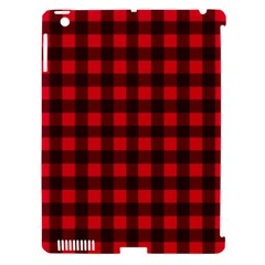 Red And Black Plaid Pattern Apple Ipad 3/4 Hardshell Case (compatible With Smart Cover)