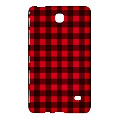 Red And Black Plaid Pattern Samsung Galaxy Tab 4 (7 ) Hardshell Case  by Valentinaart