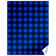 Blue And Black Plaid Pattern Canvas 18  X 24