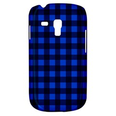 Blue And Black Plaid Pattern Galaxy S3 Mini by Valentinaart