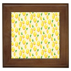 Pattern Template Lemons Yellow Framed Tiles