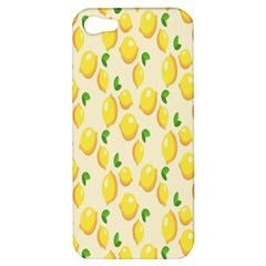 Pattern Template Lemons Yellow Apple Iphone 5 Hardshell Case by Nexatart