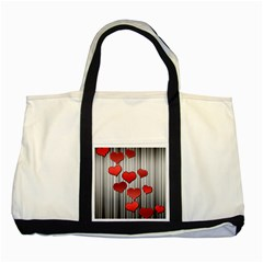 Valentines Day Pattern Two Tone Tote Bag by Valentinaart