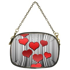 Valentines Day Pattern Chain Purses (one Side)  by Valentinaart
