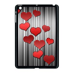 Valentines Day Pattern Apple Ipad Mini Case (black)