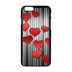Valentines Day Pattern Apple Iphone 6/6s Black Enamel Case