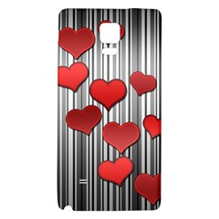 Valentines Day Pattern Galaxy Note 4 Back Case by Valentinaart