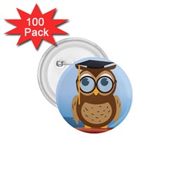 Read Owl Book Owl Glasses Read 1 75  Buttons (100 Pack)  by Nexatart