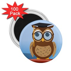Read Owl Book Owl Glasses Read 2 25  Magnets (100 Pack)  by Nexatart