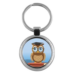 Read Owl Book Owl Glasses Read Key Chains (round)