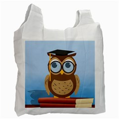 Read Owl Book Owl Glasses Read Recycle Bag (two Side)  by Nexatart