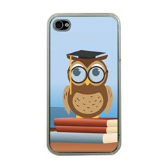 Read Owl Book Owl Glasses Read Apple Iphone 4 Case (clear) by Nexatart