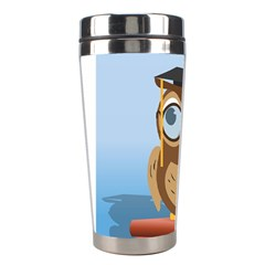 Read Owl Book Owl Glasses Read Stainless Steel Travel Tumblers by Nexatart