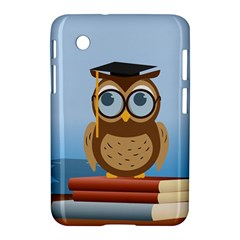 Read Owl Book Owl Glasses Read Samsung Galaxy Tab 2 (7 ) P3100 Hardshell Case  by Nexatart