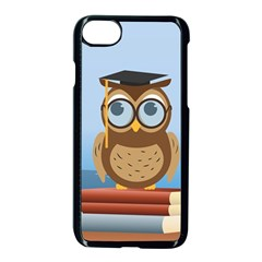 Read Owl Book Owl Glasses Read Apple Iphone 7 Seamless Case (black) by Nexatart