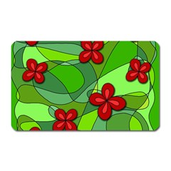 Flowers Magnet (rectangular) by Valentinaart