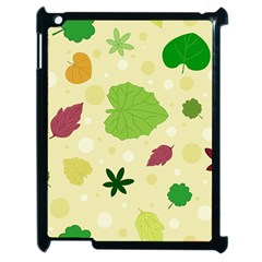 Leaves Pattern Apple Ipad 2 Case (black) by Nexatart
