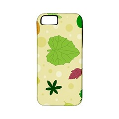 Leaves Pattern Apple Iphone 5 Classic Hardshell Case (pc+silicone)