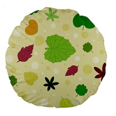 Leaves Pattern Large 18  Premium Round Cushions by Nexatart