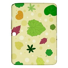 Leaves Pattern Samsung Galaxy Tab 3 (10 1 ) P5200 Hardshell Case  by Nexatart
